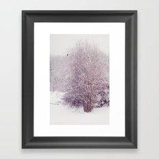 winter's snow Framed Art Print
