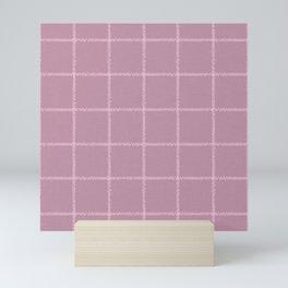 French Pink Linen Check Mini Art Print