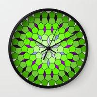 matrix Wall Clocks featuring Pentagon Matrix by Harvey Warwick