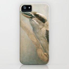 Kookaburra sits in the old gum tree......! iPhone Case