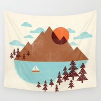 indian Wall Tapestries featuring Indian Summer by Jenny Tiffany