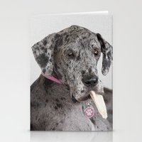 great dane Stationery Cards featuring Great Dane by Deborah Janke