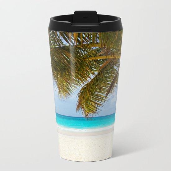 Tropical Beach Metal Travel Mug
