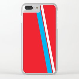 Red Slant Clear iPhone Case