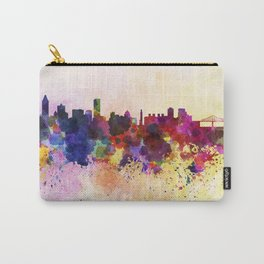 Montreal skyline in watercolor background Carry-All Pouch