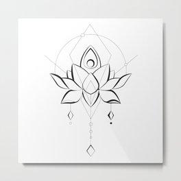 Modern Lotus for Body and Soul Metal Print