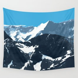 swiss mountains Wall Tapestry
