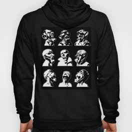 3x3 Monster Heads - Black and White Hoody