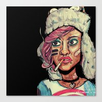 tank girl Canvas Prints featuring Tank Girl by N3RDS+INK