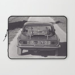 Triumph spitfire on a gravelly road in southern Italy, english sports car, fine art photography Laptop Sleeve