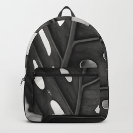 Back and white Monstera Backpack