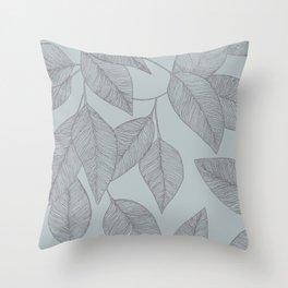Beech Leaf Throw Pillow