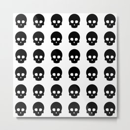 White Out Skullz Metal Print