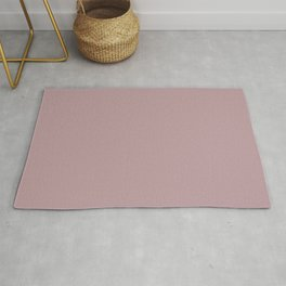 Sherwin Williams Trending Colors of 2019 Orchid (Soft Muted Pink) SW 0071 Solid Color Rug