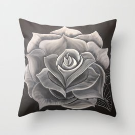Spooky Rose Throw Pillow