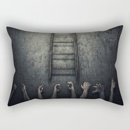 the ray of light in a nightmare Rectangular Pillow