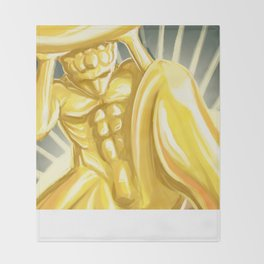 Atlas Shrugged statue Throw Blanket