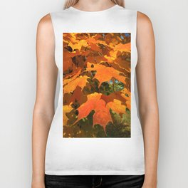 Autumnal Burst Biker Tank