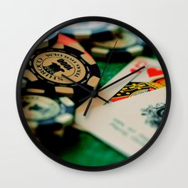 Casino Chips & Cards Wall Clock