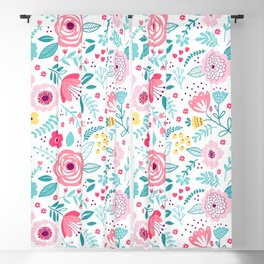 Small Colorful Flowers Blackout Curtain