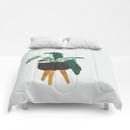 mid century modern house plant boho pot stand Comforters