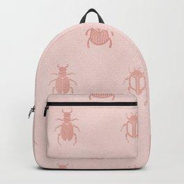 Beetles en rose gold Backpack
