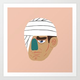 Bandage Face Art Print