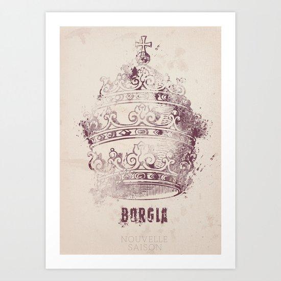 Borgia - Tv series - Minimal Poster n°2 Art Print