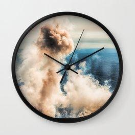 The summit of Karymsky Volcano Wall Clock