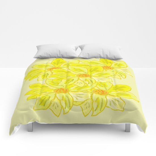 Painted Flower Comforters