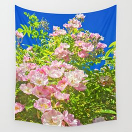 Sun Soaked Roses Wall Tapestry