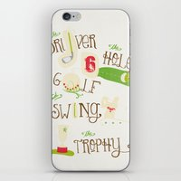 golf iPhone & iPod Skins featuring Golf  by Crea Bisontine