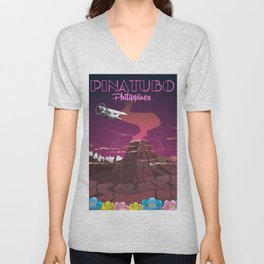 Mount Pinatubo Philippines Unisex V-Neck