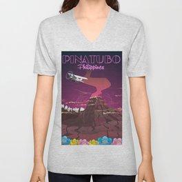 Mount Pinatubo Philippines Unisex V-Neck