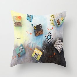The Turning Throw Pillow