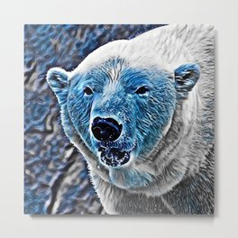BLUE - Polar Baer Metal Print