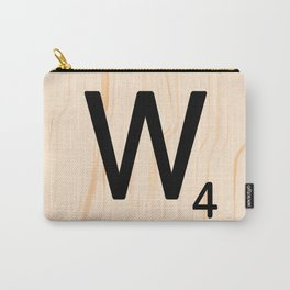 Scrabble Letter W - Scrabble Art and Apparel Carry-All Pouch