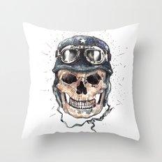 biker Throw Pillow