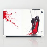 devil iPad Cases featuring Devil Wears Lbtn by anna hammer