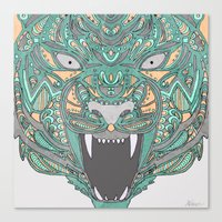 rooster teeth Canvas Prints featuring Teeth by Alexandria Robinson