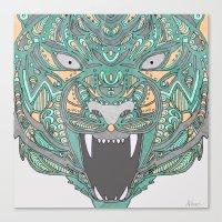 teeth Canvas Prints featuring Teeth by Alexandria Robinson