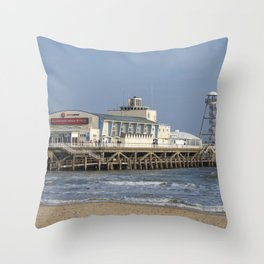 Bournemouth Pier 3 Throw Pillow