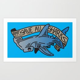 V2 - Hammerhead for the Cause! Art Print