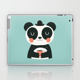 Panda Loves Coffee Laptop & iPad Skin
