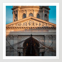 St. Stephen's Basilica Budapest Art Print