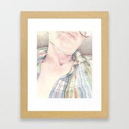 Portrait - Self Study Framed Art Print