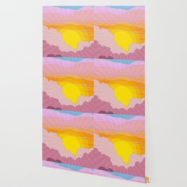 Sixties Inspired Psychedelic Sunrise Surprise Wallpaper