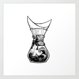 Chemax Coffee Maker Art Art Print