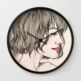Les Femmes - Berry Lips Wall Clock