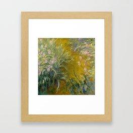 The Path through the Irises - Claude Monet Framed Art Print